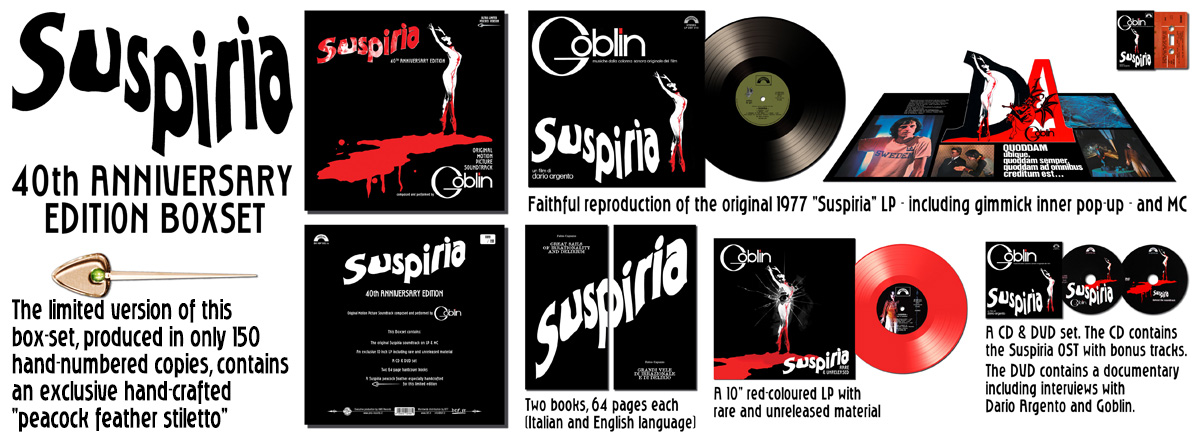 Suspiria 40th Anniversary Box Limited Edition